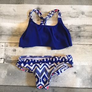 Girls xHilaration Two Piece Bathing Suit Size 4/5